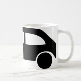 black crash car icon mugs