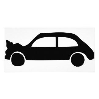 black crash car icon photo cards