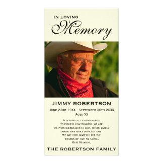 Black & Cream Memorial Family Acknowledgement Card