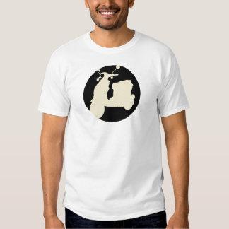 BLACK/CREAM SCOOTER CIRCLE 100mpg T-shirts