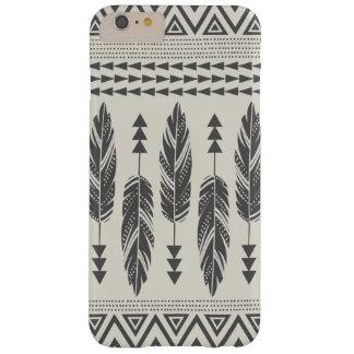 Black & Cream Tribal Feathers iPhone 6 Plus Case