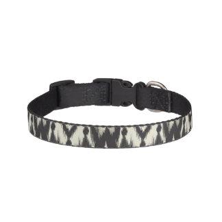 Black & Cream Tribal Ikat Pet Collar