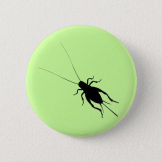 Black Cricket 6 Cm Round Badge