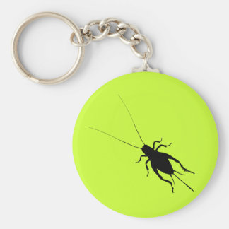Black Cricket Basic Round Button Key Ring