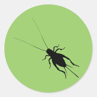 Black Cricket Classic Round Sticker