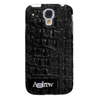 Black Crocodile Skin iPhone3G Samsung Galaxy S4 Covers