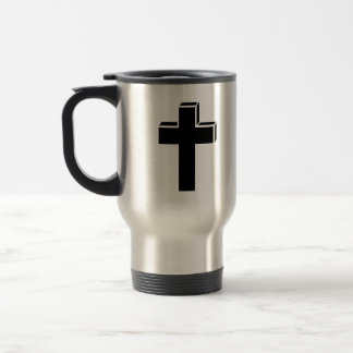 Black cross coffee mugs