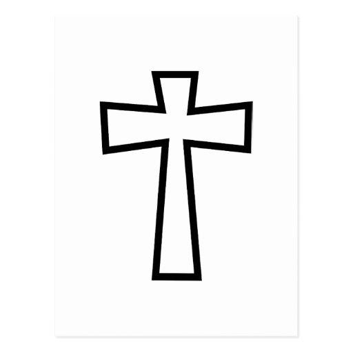 Black Cross Outline | Zazzle