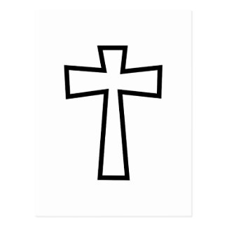 Black Cross Outline Postcard