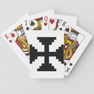 Black Cross Playing Cards