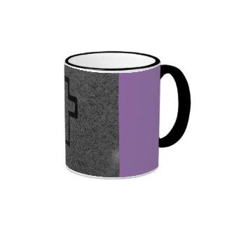 black cross ringer mug