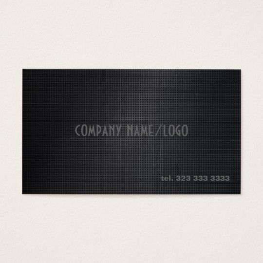 Black Cross Stitch Pattern Business Card Template
