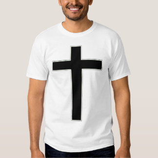 Black cross tee shirt