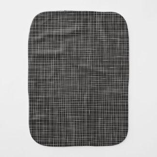 Black Crosshatch Burp Cloth