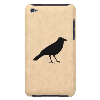 Black Crow Bird on a Parchment Pattern. Barely There iPod Case