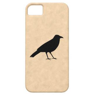 Black Crow Bird on a Parchment Pattern. iPhone 5 Case