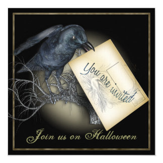 Black Crow Gothic Party Invitations
