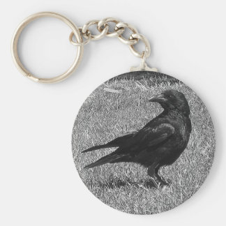 Black crow key ring