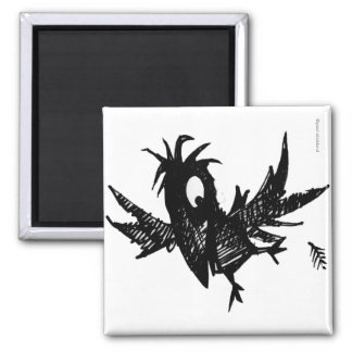 Black Crow Refrigerator Magnets