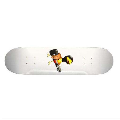 Black crow playing guitar graphic skateboards