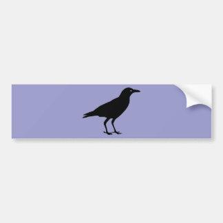 Black Crow Purple Halloween Car Bumper Sticker