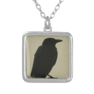 Black Crow Silver Plated Necklace