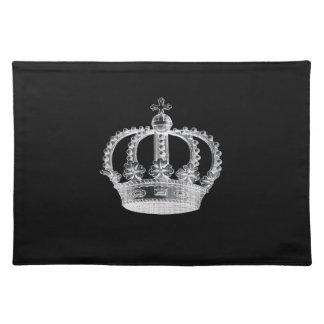 """Black Crown (A) Placemats 20"""" x 14"""""""