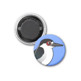 Black-crowned Night Heron 3 Cm Round Magnet