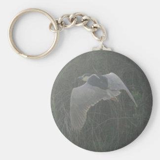 Black-crowned Night-heron 3 Basic Round Button Key Ring