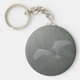 Black-crowned Night-heron 4 Basic Round Button Key Ring