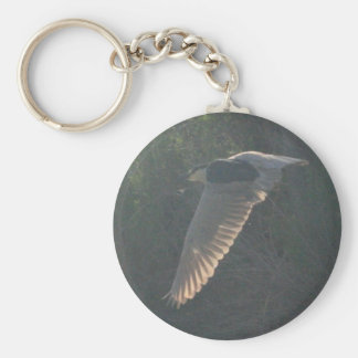 Black-crowned Night-heron 5 Basic Round Button Key Ring