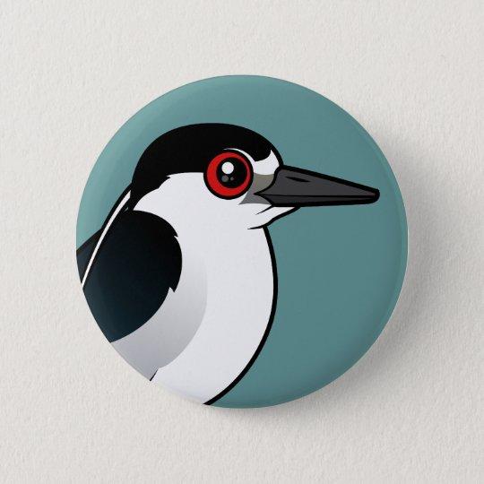 Black-crowned Night Heron 6 Cm Round Badge
