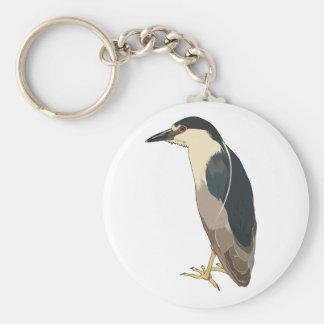 Black-crowned Night Heron Bird Keychains