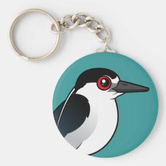 Black-crowned Night Heron Key Ring