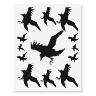 Black Crows or Ravens - decorate your skin!