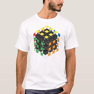 Black cube on light background T-Shirt
