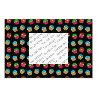 Black cupcake pattern photo art