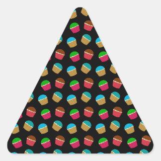 Black cupcake pattern sticker
