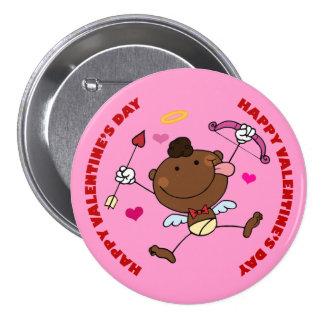 Black Cupid Jumping Valentine 7.5 Cm Round Badge