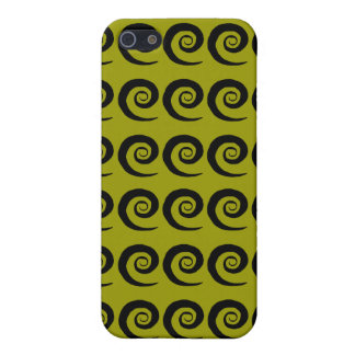 Black Curl Pattern Cover For iPhone 5/5S
