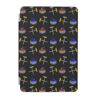 Black curling pattern iPad mini cover