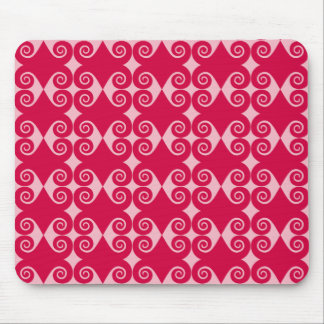Black Curly Diamond Pattern Mouse Pad