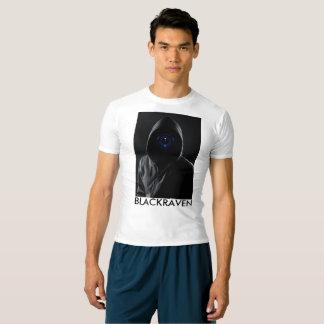 Black Curved Obj. Blue Tshirt