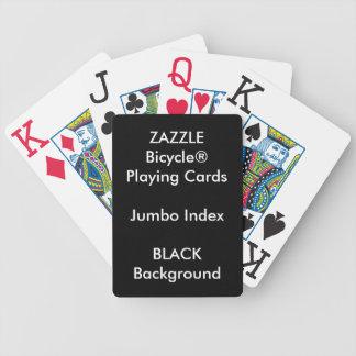 BLACK Custom Bicycle® Jumbo Index Playing Cards