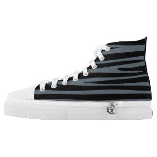 Black custom printed High tops converse Sneakers