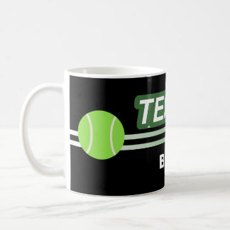 Black Custom Tennis Mugs