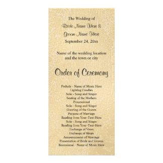 Black Custom Text on Beige Abstract Wedding Customised Rack Card