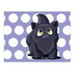 Black Cutie Face Kitten Postcards