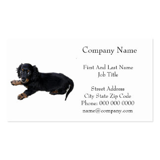 Black Dachshund/Cocker Spaniel Puppy Business Cards