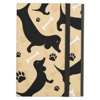 Black dachshund iPad air case